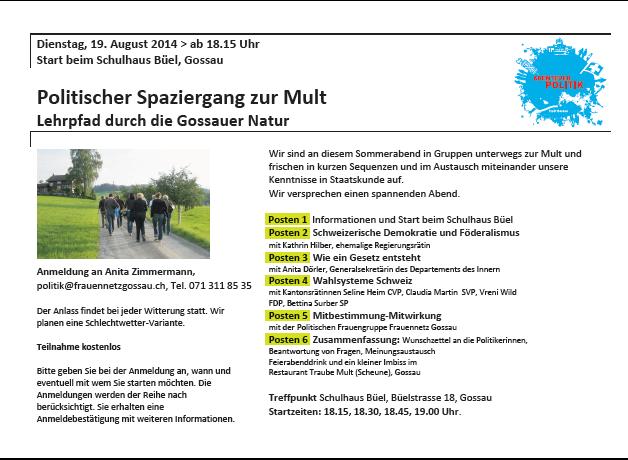 Frauennetz-Anlass 19.8.2014
